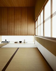Japanese Interior.  Cool option for flooring.