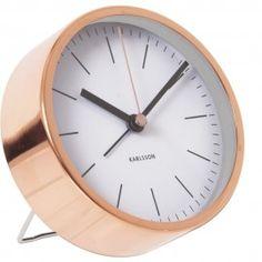 Minimal White Alarm Clock 10cm - £17.95, AVALIABLE IN 3 COLOURS!