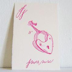 Gift Card (Ff, forever mine). $6.00, via Etsy.