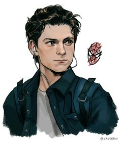 Tom Holland is Peter Parker <3 Credits to the artist :)
