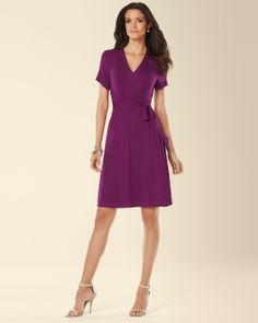 Soma Cap Sleeve Wrapped Dress in Warm Plum - Soma Sweepstakes. Soma Sweepstakes. #SomaSweepstakes
