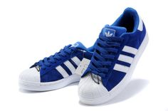 I have these now and live them! White Shoes, Blue Shoes, Nike Outfits, Cool Outfits, Adidas Official, Superstars Shoes, Nike Trainers, Comfortable Sneakers, Deep Blue