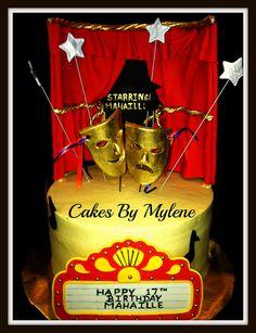 music theater cake | bolo camuflado by mirella rodrigues cake factory