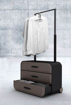 Must-have chest of drawers suitcase for the avid traveler // love this design concept!