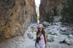 at the iron gates Samaria Gorge