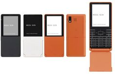 Media Skin by Tokujin Yoshioka Minimalist Phone, Concept Phones, Flip Phones, Technology Design, Minimal Design, Identity Design, Industrial Design, Orange Color, Smartphone