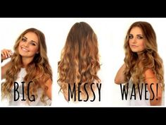 How To Get Big Messy Waves | HauteBrilliance - YouTube love this tutorial. I'm so going to do this.