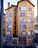 Mural in Lyon,France..I have seen this in person and its hard to believe this is not real...absolutely fantastic !!
