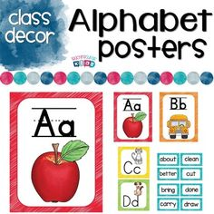 If you are looking to brighten your classroom or change themes this Alphabet and Word Wall set in Neon Brights is is a great way to achieve that new look! Alphabet Words, Cute Alphabet, Alphabet Posters, All Poster, Color Posters, Word Wall Headers, Friends Font, P Words, Back To School Night