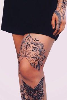 traditional mandala tattoo - diy tattoo images - My list of best tattoo models Leg Tattoos Women, Fake Tattoos, Sexy Tattoos, Body Art Tattoos, Cool Tattoos, Tattoo Drawings, Tattoo Sketches, Gorgeous Tattoos, Tatoos