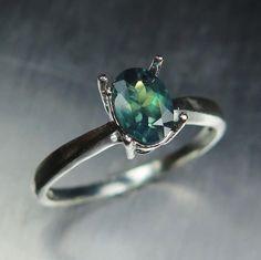 Art Deco Natural Alexandrite Ring | Color Shifting Alexandrite