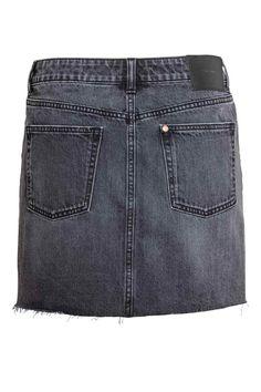 Spódnica dżinsowa - Czarny denim - ONA | H&M PL