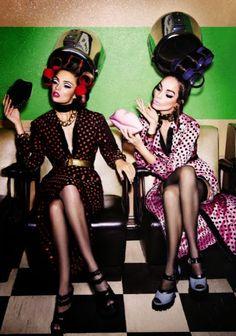 Pampering Always Precedes Partying On A Wild Girl's Weekend! -ShazB  {Luma Grothe by Ellen von Unwerth for Vogue Italy 2013}