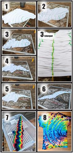 Tutorial, dye is same on front and back. : tiedye Nil&FabricCrafts -Pic Tutorial, dye is same on front and back. Fête Tie Dye, Tie Dye Party, Bleach Tie Dye, How To Tie Dye, Bleach Pen, Tie Dye Crumple, Tie Dye Tips, Tie Dye Crafts, Crafts To Do