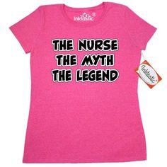 Inktastic Nurse Myth Legend Women's T-Shirt Nursing Rn Lpn Clothing Apparel Tees Adult, Size: XL, Grey