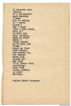 Typewriter Series #888byTyler Knott Gregson *Pre-Order my book, Chasers of the Light, and donate $2 to @TWLOHA and get a free book plate signed by me :) Click the link in my bio, or go here: tylerknott.com/chasers*