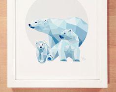 Geometric Animal Prints Geometric Animal, Colorful Wall Art, Animal Prints, Etsy Seller, Printables, Simple, Creative, Animals, Animales