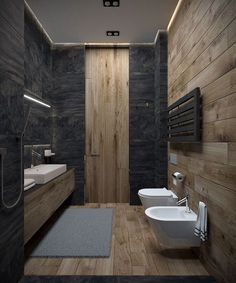 Modern Bathroom Have a nice week everyone! Today we bring you the topic: a modern bathroom. Do you know how to achieve the perfect bathroom decor? Bathroom Lighting Design, Modern Bathroom Design, Bathroom Interior Design, Modern Interior, Minimal Bathroom, Restroom Design, Bathroom Designs, Toilet Design, Bathroom Inspiration