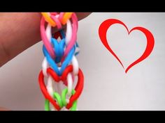 KAERU Mini Hearts Valentine's Day Bracelet - EASY Rainbow Loom Tutorial - YouTube