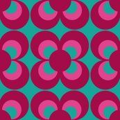 Retro flower print for table runners and bunting.