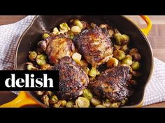 Cooking Crispy Balsamic Chicken Video - Crispy Balsamic Chicken How to Video Duck Recipes, Paleo Recipes, Cooking Recipes, Chimichurri, Entree Recipes, Dinner Recipes, Whole30, Chicken Brussel Sprouts, Balsamic Chicken Recipes