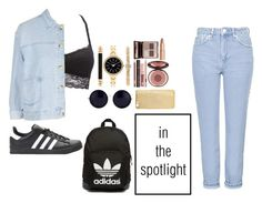 """""""Untitled #219"""" by harmonizer4ever on Polyvore featuring Charlotte Russe, Topshop, Charlotte Tilbury, adidas, Mela Loves London, Style & Co., adidas Originals, The Row, women's clothing and women"""