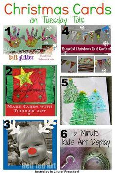 A Round-Up of Christmas Cards Displays I inlieuofpreschool