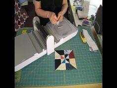 "2010-04 Layered Pinwheel Quilt Block using Accuquilt GO cutter using 2.5"" strip & 4"" square die"