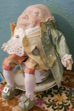 Humpty Dumpty OOAK Posable  Easter Egg Art Doll by moninesfaeries, $200.00