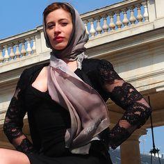 Luxury Silk Art Scarves By Phillip Ayers Paris Shoot Fashion Accessory How to tie a scarf Silk Chiffon Silk Twill Silk Modal shot in Paris 2016 Silk Art, Silk Scarves, Silk Chiffon, Shawl, Fashion Accessories, Kimono, Tie, Paris, Luxury
