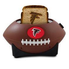 Toast the competition and show some Atlanta Falcons pride with this football-shaped toaster.