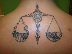 Geometric Libra Tattoo Design ~ http://tattooeve.com/having-zodiac-tattoo-ideas/ Tattoo Design