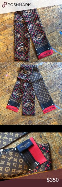 Louis Vuitton tiger banduex scarf sold out RARE Authentic  Sold out  Rare  And beautiful Louis Vuitton Accessories Scarves & Wraps