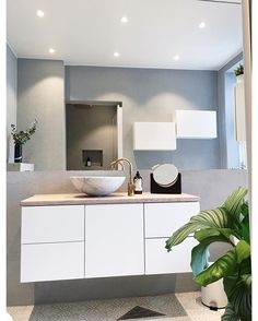 - Architecture and Home Decor - Bedroom - Bathroom - Kitchen And Living Room Interior Design Decorating Ideas - Bathroom Inspo, Bathroom Inspiration, Bathroom Interior, Future House, Mad About The House, Wall Hung Toilet, Bad Inspiration, Scandinavian Bathroom, Home Decor Bedroom