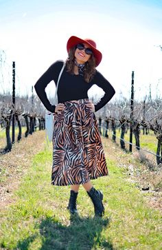 Wine Country - Wearing Combat Boots With A Zebra Print Skirt Wild Fashion, Wild Style, How To Get Warm, Print Skirt, Zebras, Vintage Chanel, Vintage Skirt, Wine Country, Zebra Print