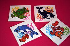 Sealife tattoo 12p