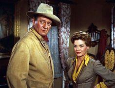 John Wayne and Angie Dickinson in Rio Bravo
