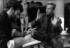 Robert Doisneau - Mode // Jean-Paul Gaultier et Nicolas Bréhal, Paris le 7 novembre 1985 Minimalist Photography, Urban Photography, People Photography, Color Photography, Henri Cartier Bresson, Edward Weston, Vivian Maier, Robert Doisneau, Ansel Adams