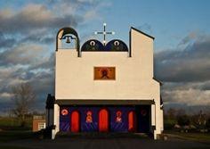 Biały Bór - cerkiew grekokatolicka wg. projektu Nowosielskiego