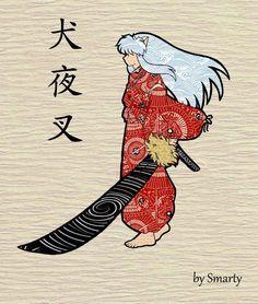 inuyasha fanart japanese Style pattern 💜