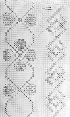 Valentina Minchuk's media statistics and analytics Crochet Poncho Patterns, Crochet Chart, Filet Crochet, Knitting Patterns, Cross Stitch Borders, Cross Stitching, Cross Stitch Patterns, Embroidery Patterns, Hand Embroidery