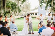 Outdoor Wedding Ceremony - Blush and Mint Southern Charm Wedding at Highland Manor in Apopka Florida - Best Photography - click pin for more - www.orangeblossombride.com