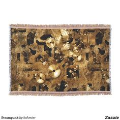 Steampunk Throw Blanket