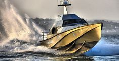 impossible to capsize, the thunder child boat defies stormy seas