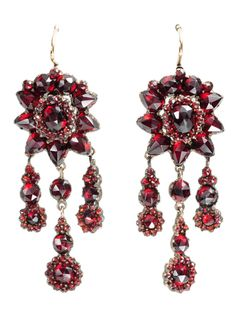 earrings ca. 1880 via The Three Graces