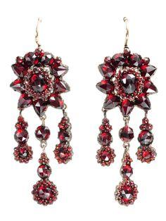 earrings ca. 1880 via The Three Graces