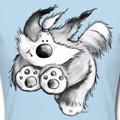 Flying Bearded Collie   Modartis Tier Shirt Shop für Zweibeiner