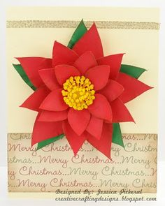 Creative Crafting Designs: 3d Poinsettia Christmas Card and a Freebie SVG Fil...