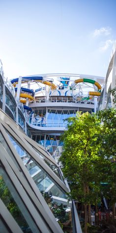 Harmony of the Seas | There's never a shortage of entertainment on the world's largest ship, which is beloved by guests for the Perfect Storm waterslides, Central Par, and a towering 10-story tall slide, the Ultimate Abyss.