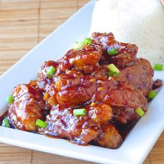 Low Fat Baked General Tso's Chicken